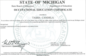 Temporary Vocational Authorization, Earned December 2005